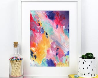 Abstract Art Signed 'Carnival Clouds' A4 Print