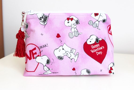 Valentines Snoopy Organizer Cosmetic Bag