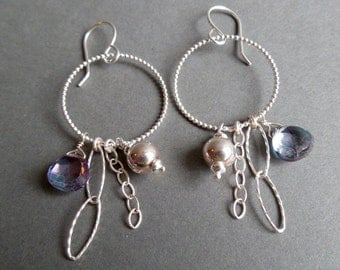 Sterling Silver and Mystic Quartz Earrings