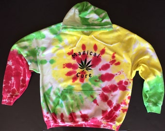 Magical Cure Tie Dyed hoodie - hooded sweatshirt