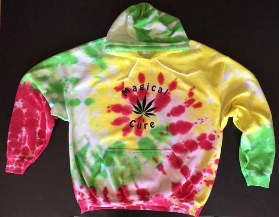Magical Cure Tie Dyed hoodie - hooded sweatshirt