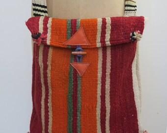 Original Vintage Moroccan Wool Kilim Shoulder Bag, Handbag, messenger, shoulder bag.