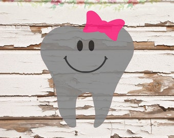 Girl tooth fairy SVG, PNG files, instant download