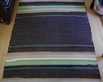 Wool Rug on Linen Warp
