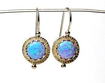 Silver opal earrings, Opal earrings, Small Opal earrings, Opal jewelry, Earrings with opal, Jewelry with opal, Present for her, Vintage gift