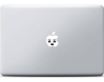 Happy Face MacBook Sticker, Vinyl decal, MacBook Pro Sticker, MacBook Air sticker