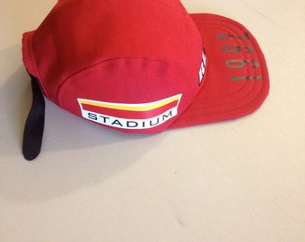 """VNDS Brand """"P Wing"""" 5 panel soft billed hat - Red"""