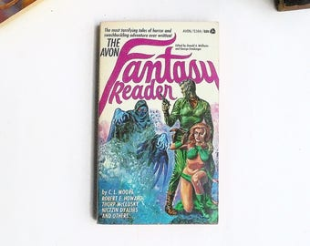 The Avon Fantasy Reader  (1969, Avon Books) Vintage Fantasy Horror Anthology Paperback Book 1st Print