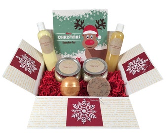 A Christmas Gift. Christmas gift basket for a loved one. Merry Christmas and a Happy New Year