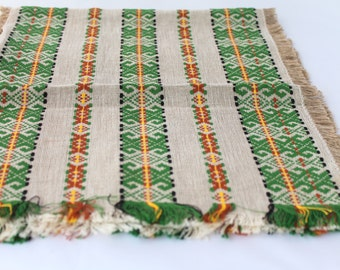 Vintage Table topper, Weaved table runner