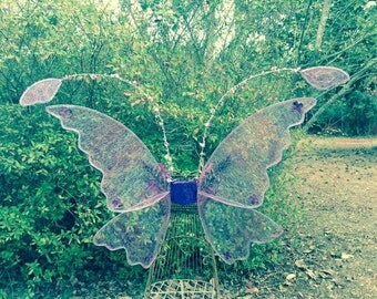 OOAK  Fantasy Antennae Lights Costume Wings Adult XL Ready to Ship