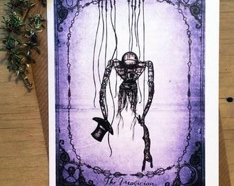 The Magician Steampunk Tarot Card Greetings Card Hare Raising Designs