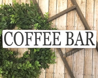 Coffee Bar | Coffee Sign | Rustic Coffee Decor | Coffee Bar Decor | Farmhouse Coffee Sign