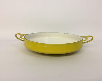 Dansk Design Kobenstyle Yellow Enamelware Paella Pan