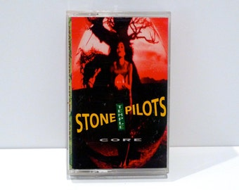 Stone Temple Pilots Band Vintage Cassette Tape Core 1992 Seattle Grunge STP Scott Weiland Sin No Memory Wicked Garden Naked Sunday Creep