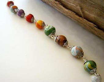Clay Jewelry, Clay Bracelet, Beaded Bracelet, Clay Bracelets, Chunky Bracelets, Chained Bracelets, Handmade Bracelets, Bead Bracelets