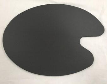 Welsh slate serving platter - artist palette shape
