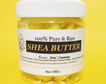 100% Pure & Raw Shea Butter Unrefined                                  2 oz and 5oz sizes.
