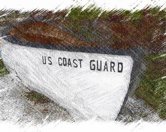 US Coast Guard Row Boat