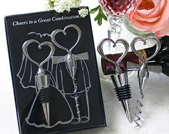 """Wine bottle opener and stopper -Packed in gift box with """"Thank you"""" Tag"""
