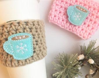 Hot Cocoa Cozy, Hot Chocolate Cozy, Warm Drink Cozy, Coffee Cozy, Holiday Cozy