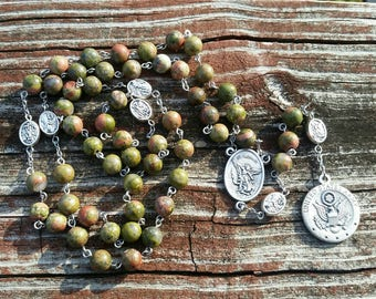 Catholic Rosary Beads US Army