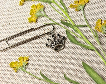 paperclip Crown silver vintage style paper clip bookmark