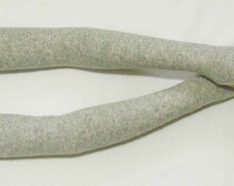 Cashmere,Light Gray melange, Very Very Long, Gentle,Comfortable,Soft and Warm Fingerless Glove, Arm Warmers with Thumbs Hole. IDEAL for HER