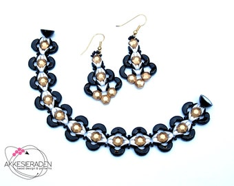 English pattern for the Eye of Arcos bracelet and earrings