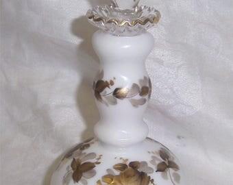 Fenton Abels Wasserberg Gold Roses Tall Colonge Bottle