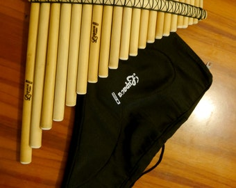 Professional Lupaca Pan Flute 21 Pipes and Case (Peru)