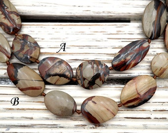 Indian Paint Jasper freeform beads (ETB01137)