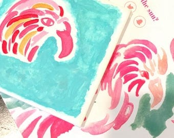 Lilly Pulitzer Canvas Inspired by the Poolside Lovebirds print!