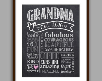 Grandma Gift, Personalized Grandma Gift, Nana Gift, Grandma Printable, Grandma Christmas Gift
