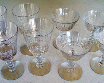 Tiffin Franciscan Williamsburg 4 Water Goblets & 4 Champagne/Tall Sherbets