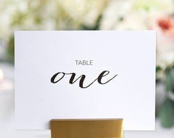 Table Numbers 1 to 12 - Wedding Table Numbers - Printed Table Numbers Set