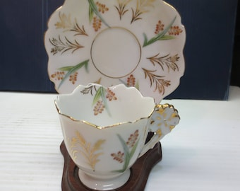 Occupied Japan Ucagco Teacup, Demitasse Cup And Saucer