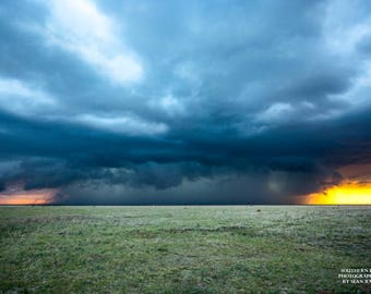 Texas Thunderstorm Art, Storm Art Print, Texas Plains, Western Pictures, Southwest Photo, Landscape Storm, Texas Gifts, Fathers Day Gift