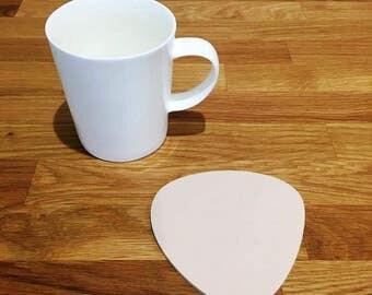 Pebble Shaped Latte Beige Matt Finish Acrylic Coasters