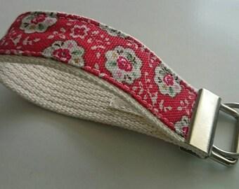 Key fob wristlet-Cath Kidston fabric