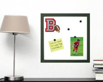 Football Frame - Custom Initial Magnetic Board and Magnets