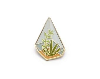 Terrarium Enamel Pin