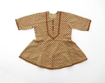 Vintage Girl's Dress // Floral Indian Cotton Dress