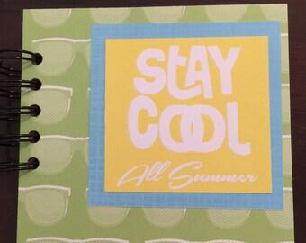 Summer mini album, 5x5 mini album, Summer scrapbook album, Summer mini scrapbook, Summer brag book, Summer premade mini album