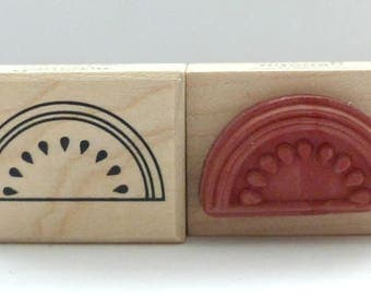Wood stamps melon watermelon