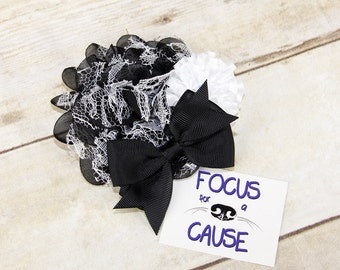 Glamorous Dog Collar Flower, Accessory, Flower Attachment for Collar, Wedding Flower, Black and White Dog Collar Flower Accessory