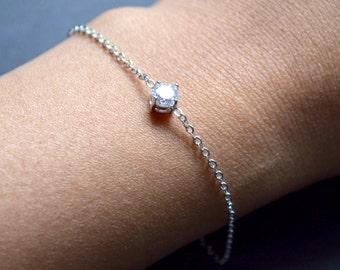 Rodhium zirconium bracelet