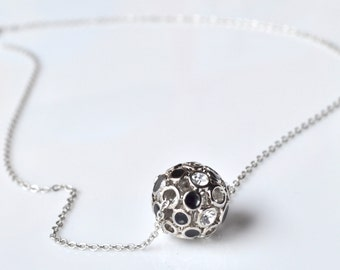 Black ball necklace
