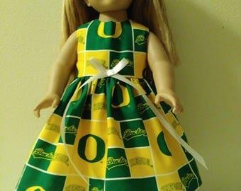 "18"" Oregon ducks doll dress"