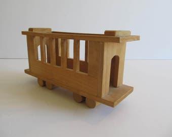Wooden Train, Wooden Train Caboose, Caboose, Trains, Toys, Wooden Toys, Train Cars, Vintage Caboose, Vintage Trains Vintage Toys Wooden Toys